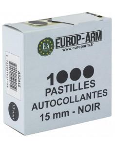 Pastilles autocollantes noires diam. 15 ou 19 mm