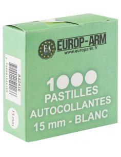 Pastilles autocollantes blanches diam. 15 ou 19 mm